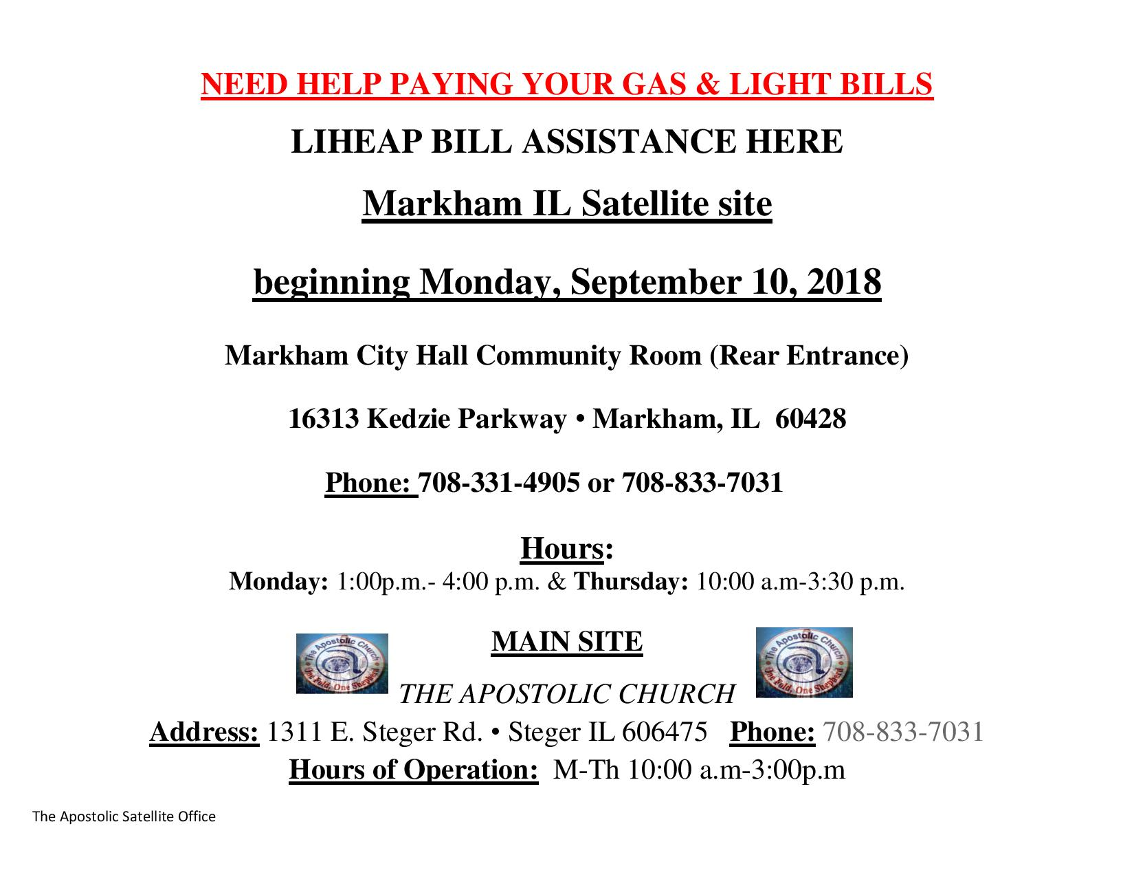 LIHEAP BILL PAY ASSISTANCE FLYER