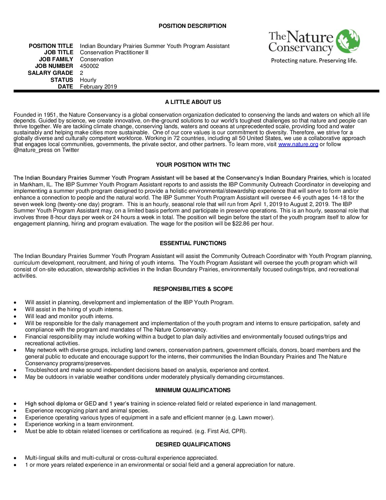 IBP Summer Youth Program Assistant - Final-Flyer