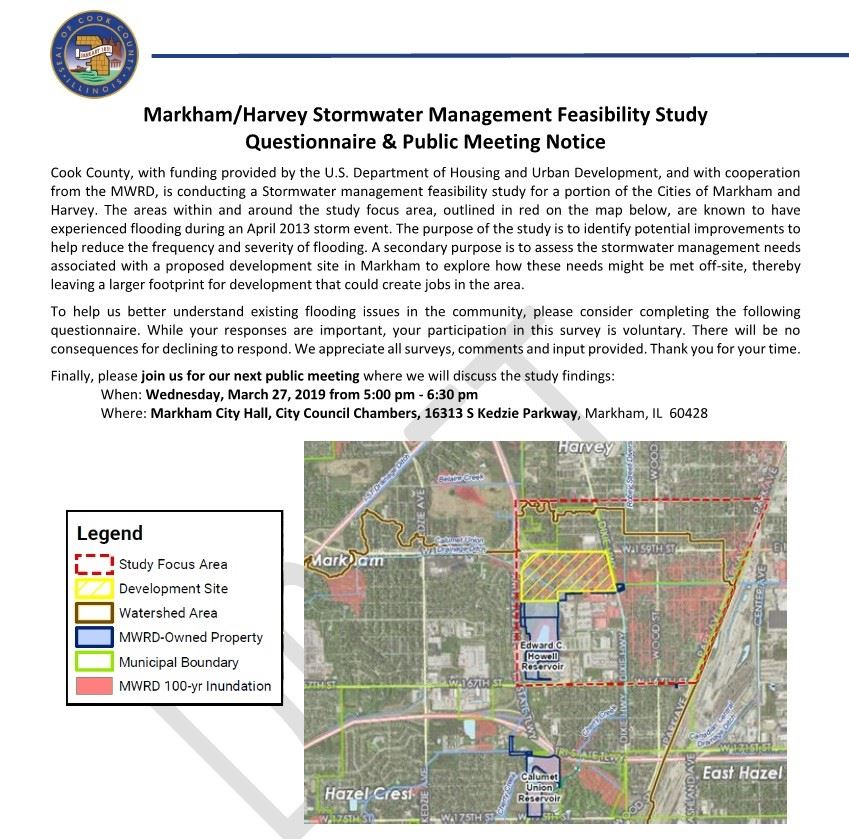 Stormwater Feasibility Meeting Flyer