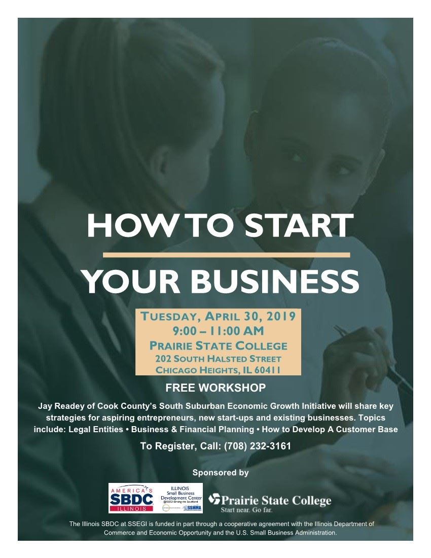 How to Start Your Business Workshop Flyer