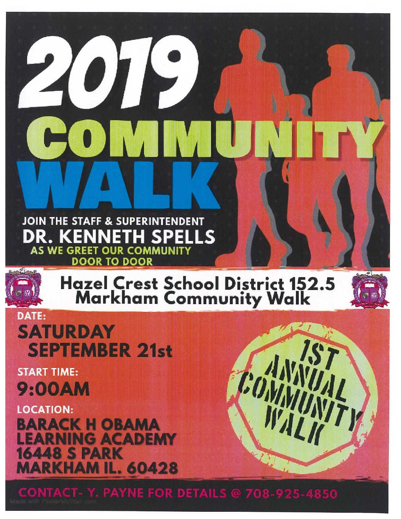 2019 COMMUNITY WALK FLYER