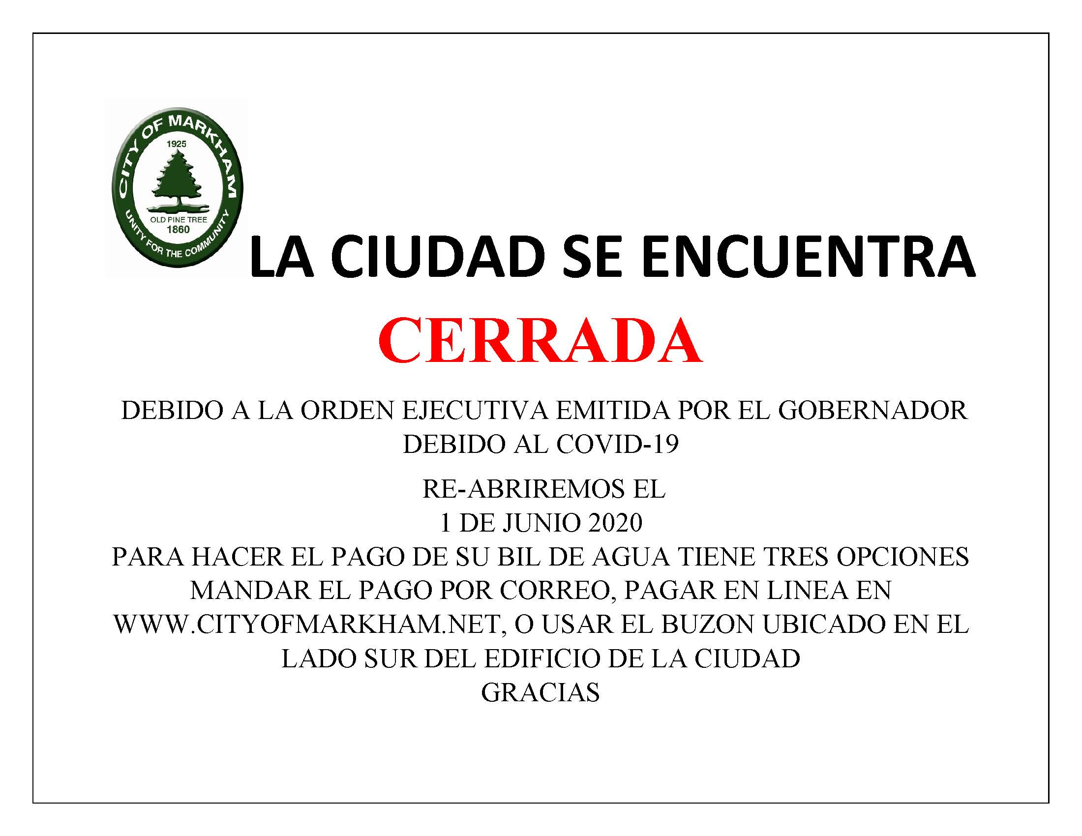 SPANISH CITY HALL CLOSURE